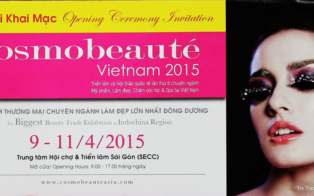 Cosmobeaute Vietnam 2015 kicks off with visitors from 15 countries