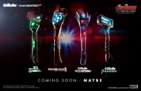Gillette teams up with Stark Industries to launch razors inspired by The Avengers