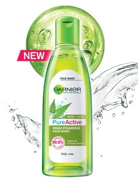 Garnier  – Pure Active Neem Tulsi High Foaming Face Wash