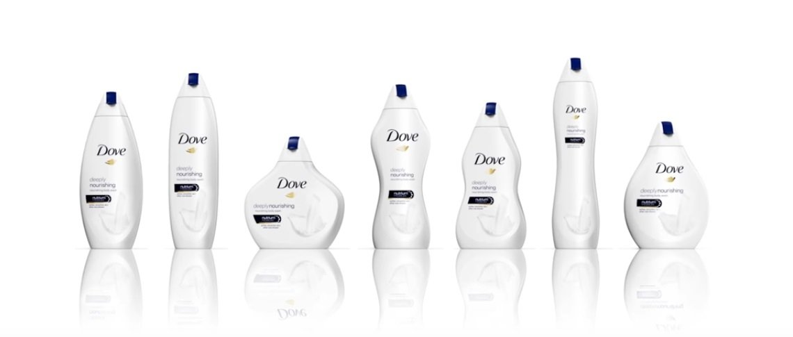 Dove takes positive body message to packaging with launch of 'Real Beauty bottles'
