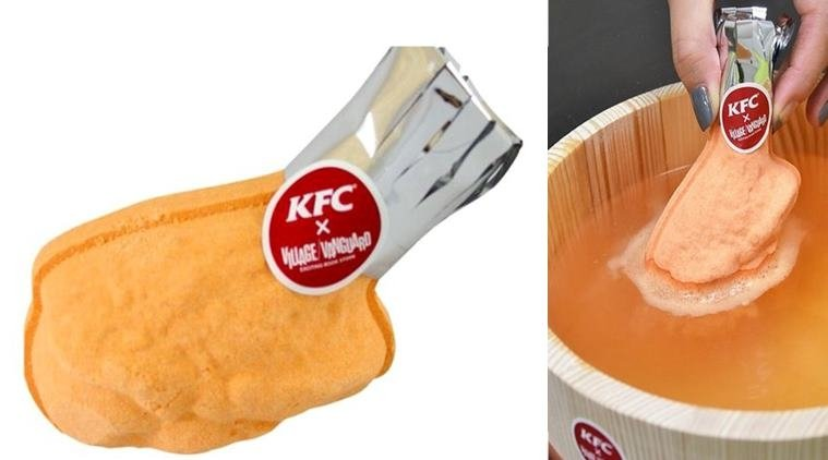 KFC Japan dabbles in personal care market with fried chicken bath bomb