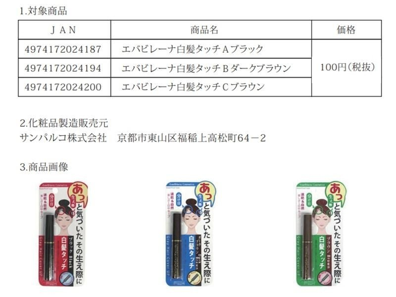 Daiso removes three hair dyes from shelves as 'precautionary measure' following reports of excess formaldehyde levels