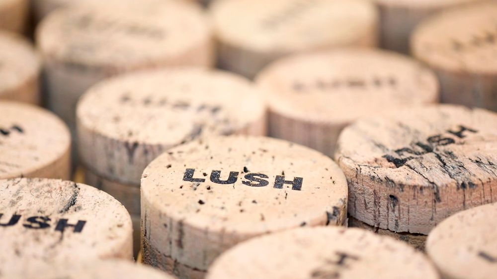 Lush unveils 'carbon positive' cork packaging