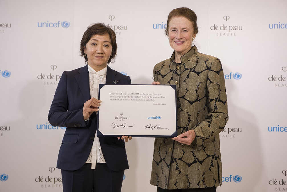 Clé de Peau Beauté signs multi-year global partnership with UNICEF