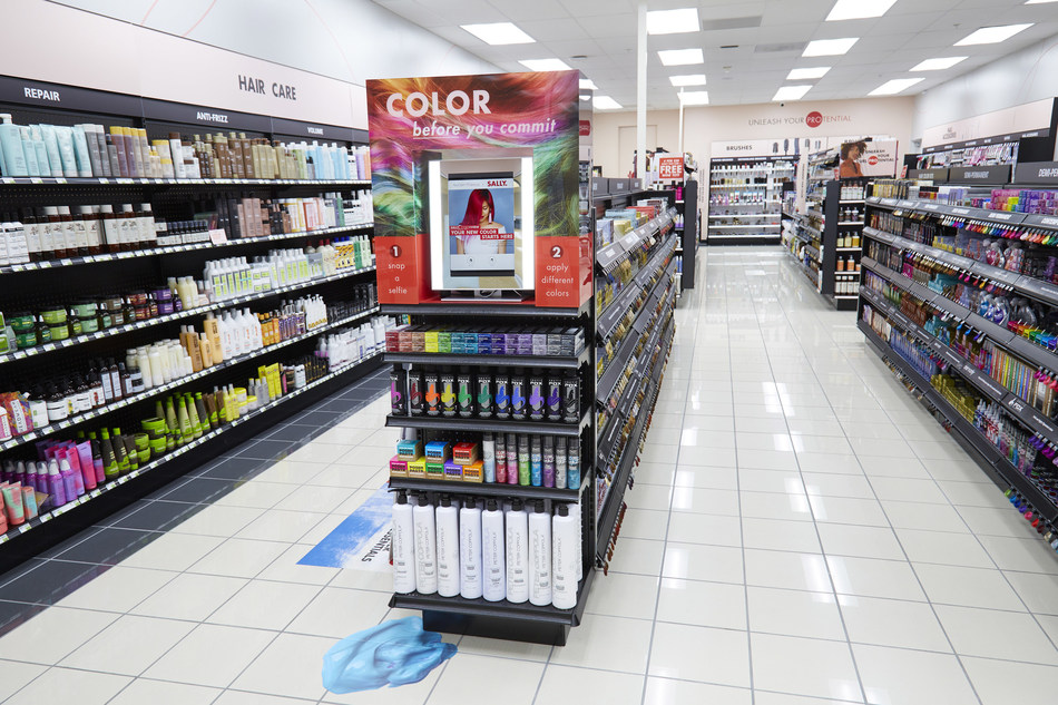 Sally Beauty launches AI color try-on facility in-store and on app