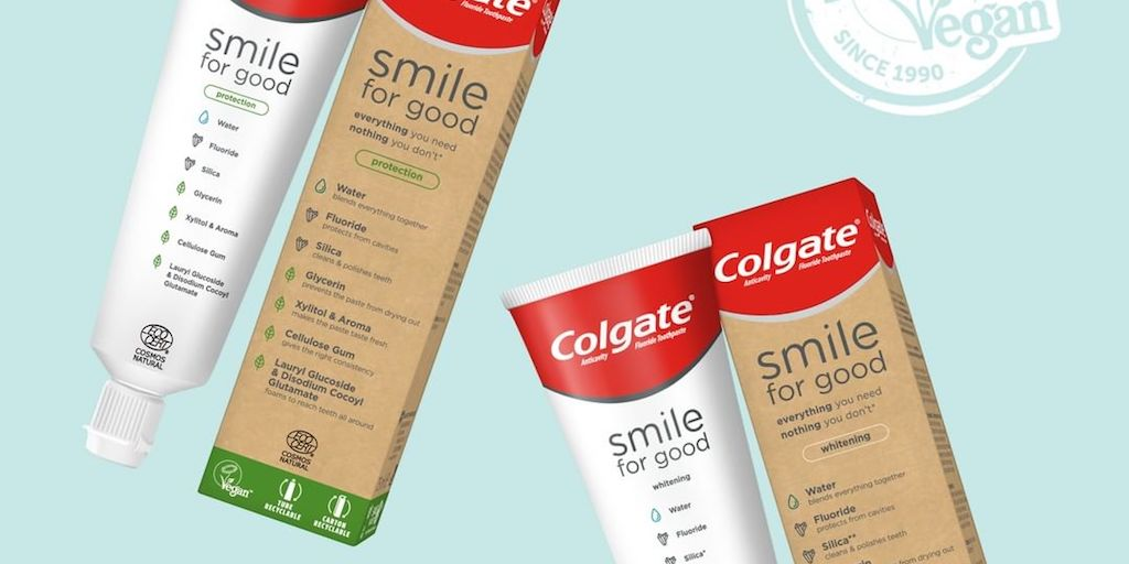Colgate-Palmolive launches two vegan-certified toothpastes in recyclable packaging