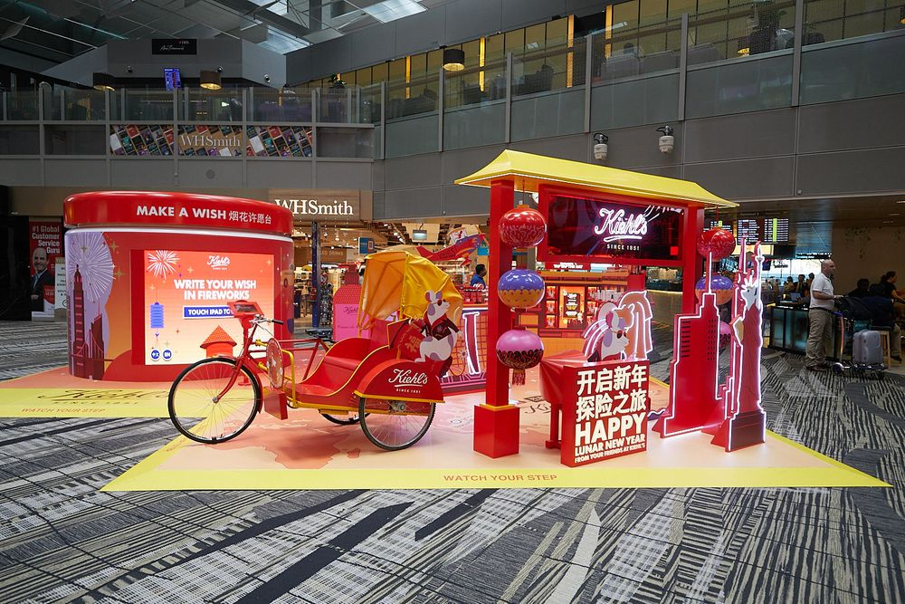 Kiehls celebrates Chinese New Year with pop up store at Singapore's Changi airport