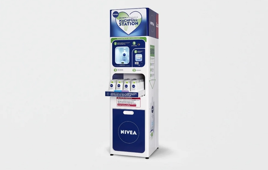 Nivea launches refill station for shower gel