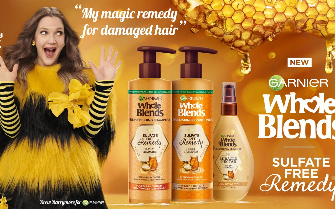 Garnier names Drew Barrymore as first celebrity Creative Director